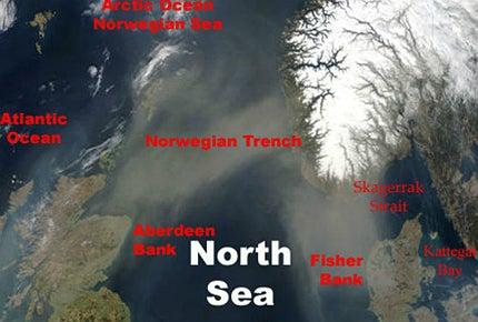 North Sea satellite image