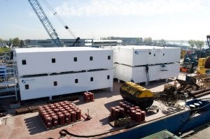 Holland Accommodation Rentals, a subsidiary of Holland Shipyards, has started the construction of their new design rental accommodations.