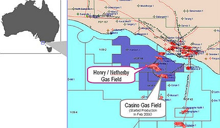 The fields lie about 30km offshore of western Victoria, in southeast Australia