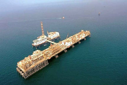 Upper Zakum oil field located 84km north-west of Abu Dhabi Islands