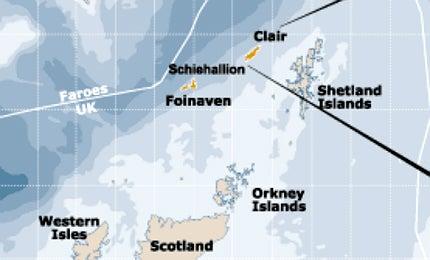 Clair Ridge development, off the west coast of Shetland