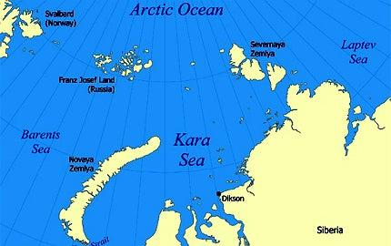 Barents Basin and south Kara Sea
