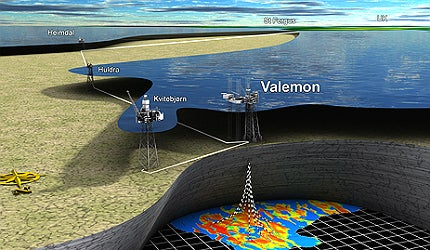 The Valemon field was discovered in 1985 by the 34/10-23 well