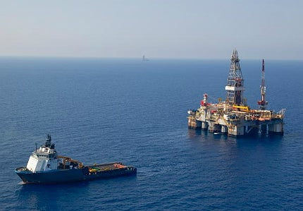 Offshore oil rig image