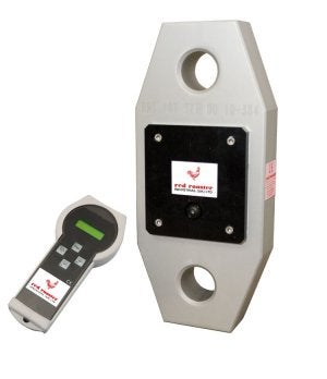 The self-indicating (SWL) unit has 11mm high digits mounted on a robust display with easy-to-use control buttons. The unit has IP68 protection with tare, peak hold, zero, unit selection, low battery indicator, and rechargeable batteries, and is available with a capacity from 2t to 25t.