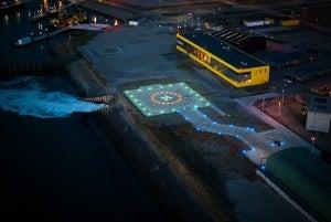 offshore helideck lighting
