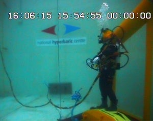 Aquasign and National Hyperbaric Centre collaborates on a new test tank.