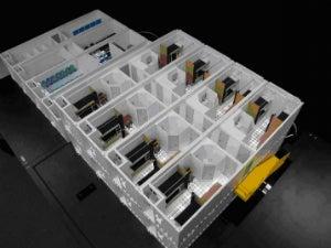 3-D model of new modular temporary living quarter