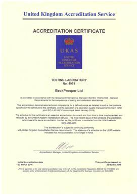 beck iso 17025 accreditation