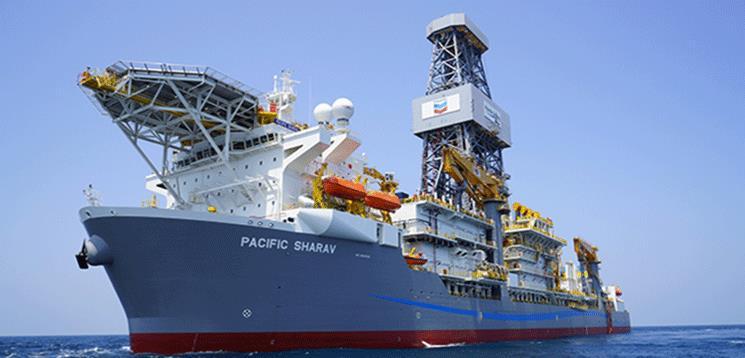 Pacific Sharav drilling ship