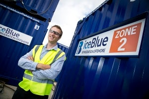 James Scullion with the new Zone 2 reefer.