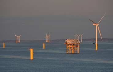 Gwynt Y Mor offshore wind farm, grouted using BASF's MasterFlow 9500 .