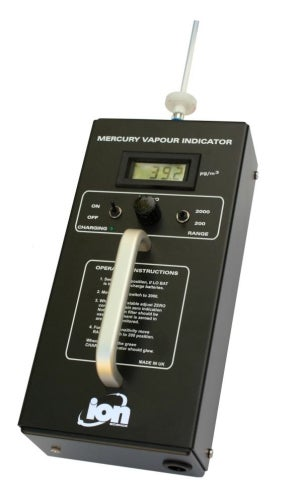 Mercury vapour indicator