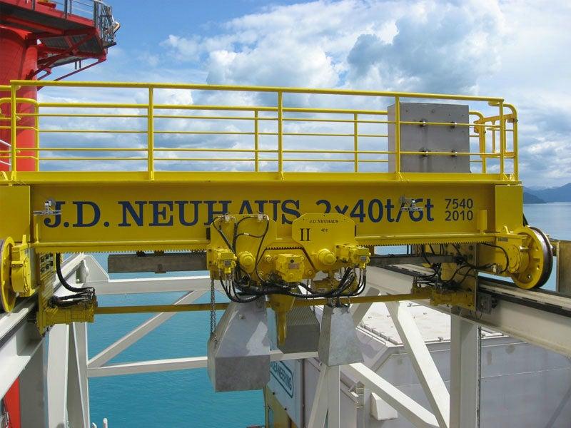 hydraulic JDN crane