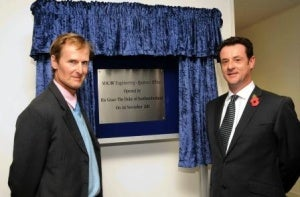 Official Opening by His Grace the Duke of Northumberland (left) and Dr John Healy, General Manager of MACAW Engineering.