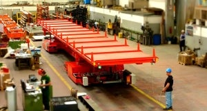 12t transfer cart with lifting and tilting deck