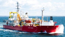 Cable-laying vessel