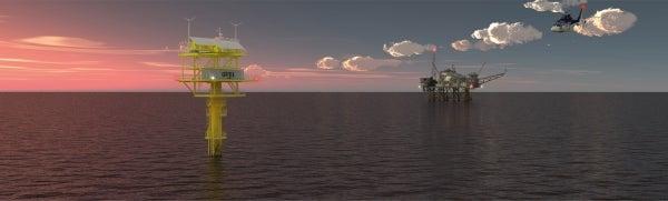 Marine navigational aid lights for offshore platforms