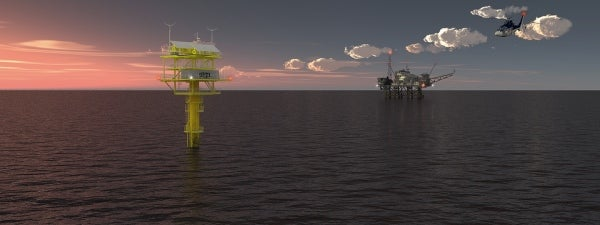 offshore platform marking and warning system