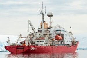 Vessel in Antartica