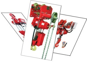 Red Rooster air hoists