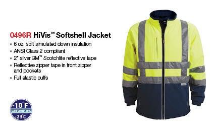 High-visibility softshell jacket