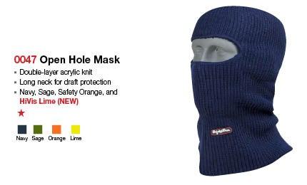 Open hole mask headwear