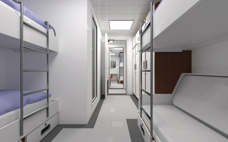 Flex 33 accomodation module - interior