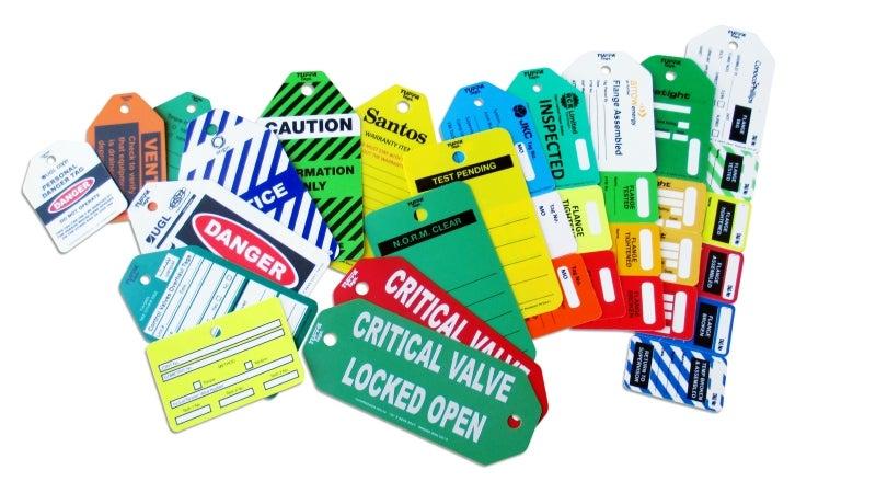 assortment of tuffa tags