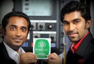 Managing director Arvin Menon and technical director Venukanna Ganapathy.
